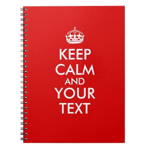 Guarde la plantilla tranquila para añadir su texto libretas