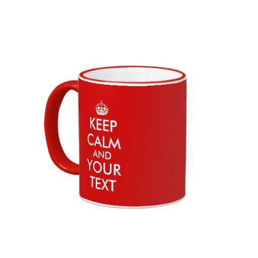 Guarde la plantilla tranquila para añadir su texto tazas