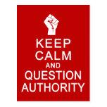 Guarde la postal de la autoridad de la calma y de
