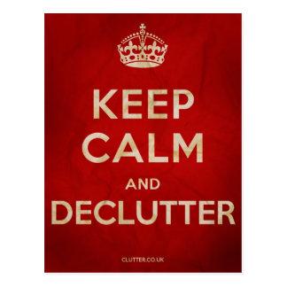 Guarde la postal de la calma y de Declutter