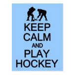 Guarde la postal del personalizado del hockey de l