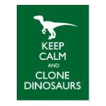 Guarde la postal tranquila de los dinosaurios de l