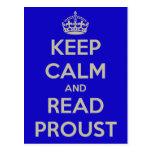 Guarde la postal tranquila de Proust