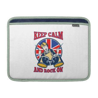 Guarde la roca tranquila en los tambores británico funda  MacBook