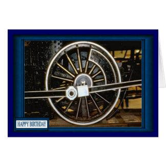 Guarde la rueda de las ruedas tarjeta de felicitación