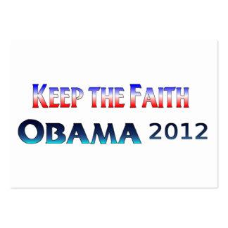Guarde la tarjeta de visita de Obama de la fe