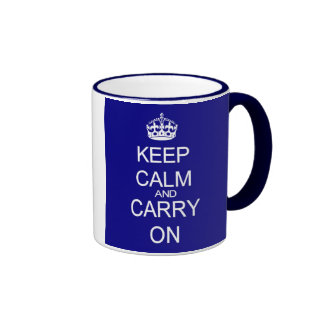 Guarde la taza azul tranquila