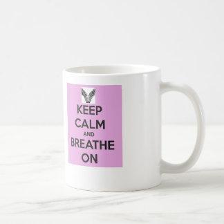 Guarde la taza de café tranquila
