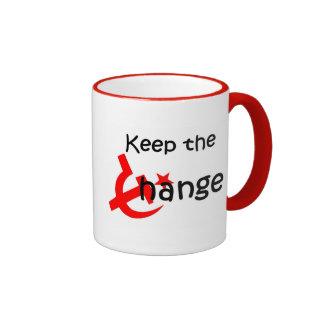 guarde la taza del cambio