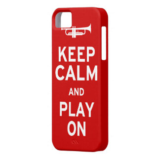 Guarde la trompeta tranquila iPhone 5 cárcasa