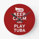 Guarde la tuba de la calma y del juego reloj