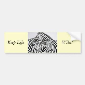 Guarde la vida Wild1 Etiqueta De Parachoque
