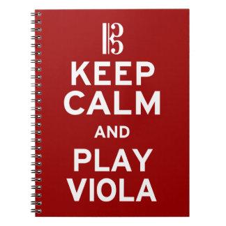 Guarde la viola de la calma y del juego cuaderno