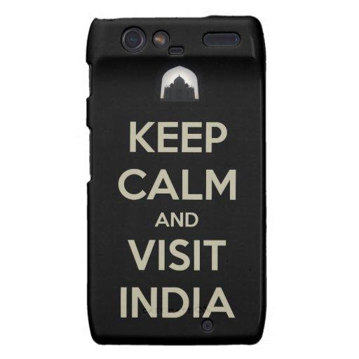 guarde la visita tranquila la India Droid RAZR Fundas