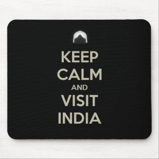 guarde la visita tranquila la India Mouse Pads