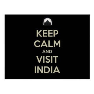 guarde la visita tranquila la India Postales