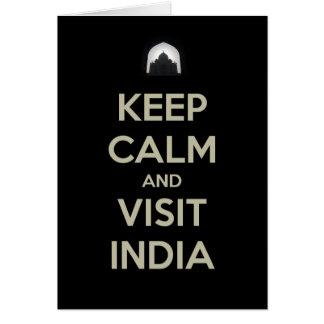 guarde la visita tranquila la India Tarjeta De Felicitación
