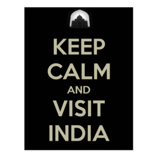 guarde la visita tranquila la India Tarjetas Postales