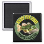 Guarde las camisetas de la pesca de los pescados imanes de nevera