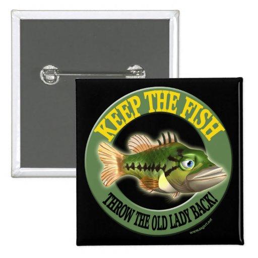 Guarde las camisetas de la pesca de los pescados pins