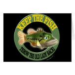 Guarde las camisetas de la pesca de los pescados felicitacion
