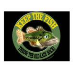Guarde las camisetas de la pesca de los pescados postales