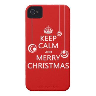Guarde las Felices Navidad tranquilas y iPhone 4 Case-Mate Fundas