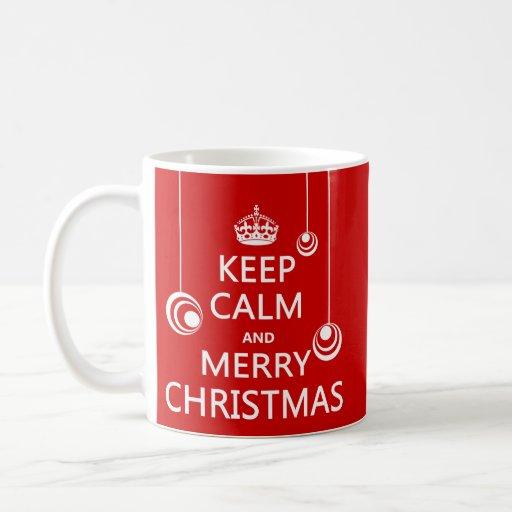Guarde las Felices Navidad tranquilas y Taza De Café