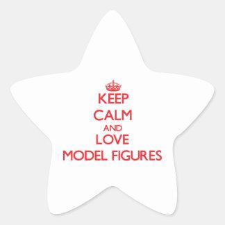 Guarde las figuras modelo de la calma y del amor calcomanías forma de estrellas personalizadas