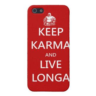 guarde las karmas y viva longa iPhone 5 carcasas