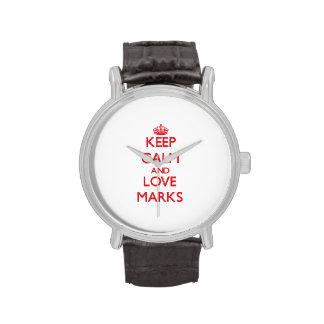 Guarde las marcas de la calma y del amor relojes de pulsera