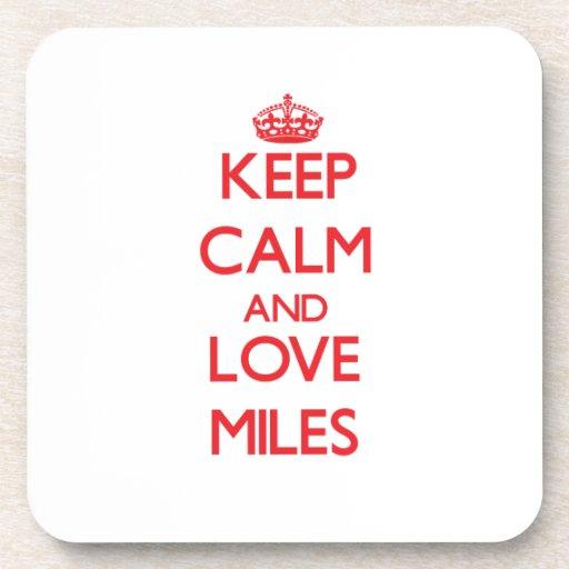 Guarde las millas de la calma y del amor posavasos de bebida