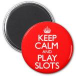 Guarde las ranuras de la calma y del juego imán redondo 5 cm