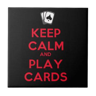 Guarde las tarjetas de la calma y del juego azulejo cerámica