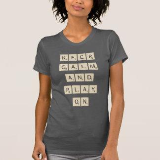 Guarde las tejas de la calma y del juego encendido camisetas