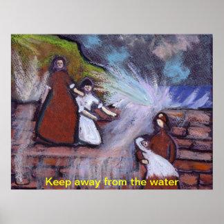 Guarde lejos del agua posters