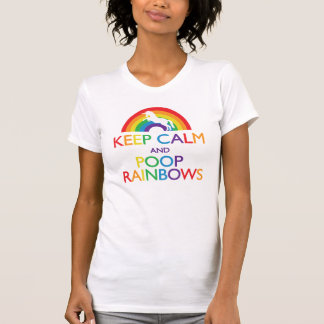 Guarde los arco iris de la calma y del impulso camisetas