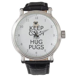 Guarde los barros amasados tranquilos del abrazo reloj de mano
