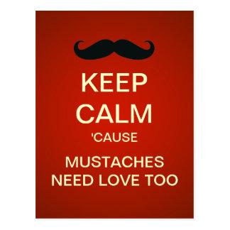 Guarde los bigotes tranquilos necesitan las postales