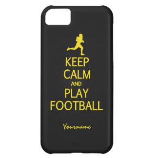 Guarde los casos de encargo del color del fútbol d funda para iPhone 5C