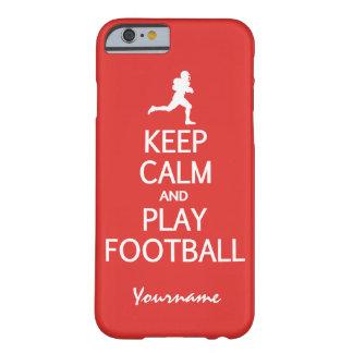 Guarde los casos de encargo del color del fútbol funda de iPhone 6 barely there