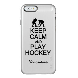 Guarde los casos del personalizado del hockey de funda para iPhone 6 plus incipio feather shine