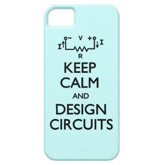 Guarde los circuitos tranquilos del diseño iPhone 5 carcasa
