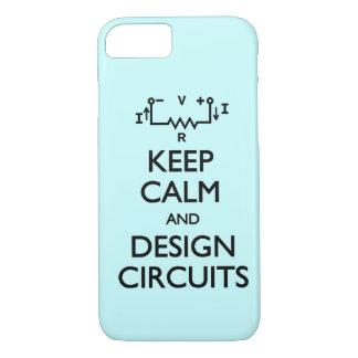 Guarde los circuitos tranquilos del diseño funda iPhone 7