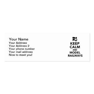 Guarde los ferrocarriles tranquilos y modelo tarjetas de visita mini