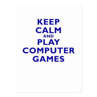 Guarde los juegos de ordenador de la calma y del j tarjetas postales