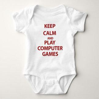 Guarde los juegos de ordenador de la calma y del playera