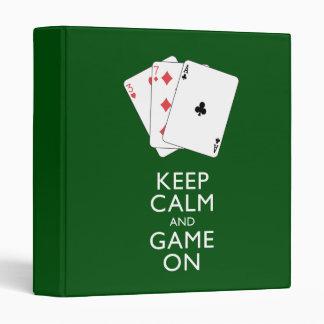 """GUARDE los juegos de tarjeta de la CALMA Y del Carpeta 1"""""""