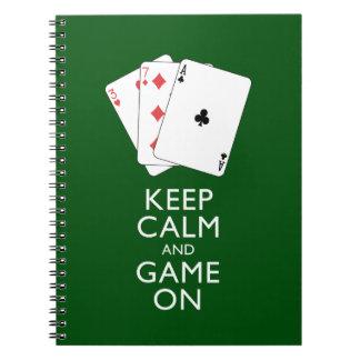 GUARDE los juegos de tarjeta de la CALMA Y del Spiral Notebooks