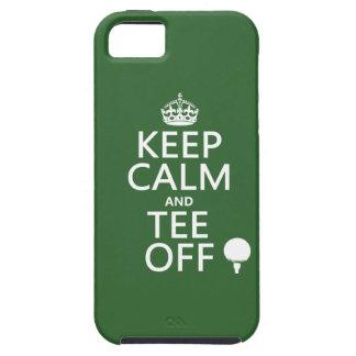 Guarde los presentes del golf de la calma y de la  iPhone 5 Case-Mate carcasa
